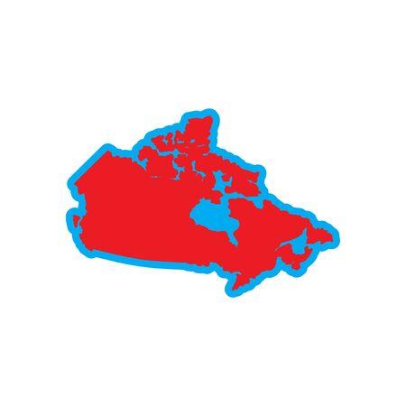 newfoundland: flat icon on white background, map of Canada