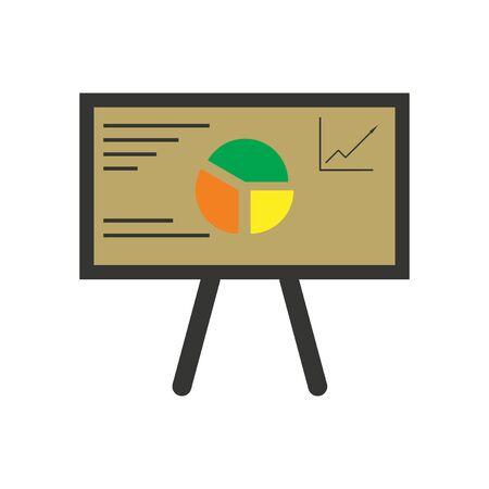 clip art cost: Modern flat icon bright chart diagram presentation Illustration