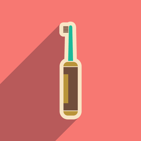 tidiness: Icon of tooth brush in flat style
