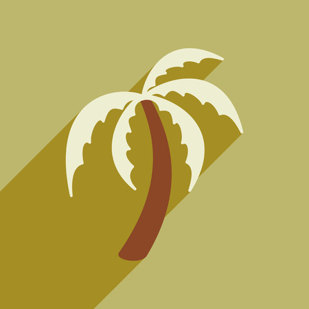 tagged: Modern flat icon with long shadow Indian palm Illustration