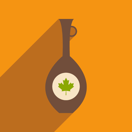 canadian icon: flat icon with long shadow Canadian jar Illustration
