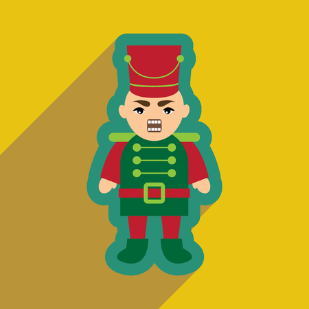 nutcracker: flat icon with long shadow Nutcracker boy