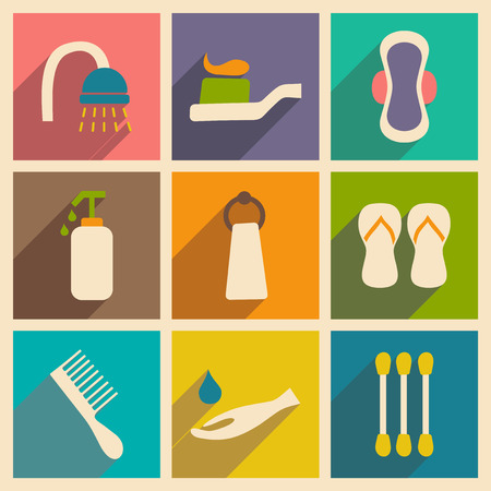 de higiene: Apartamento de concepto sombra y la higiene de aplicaciones móviles
