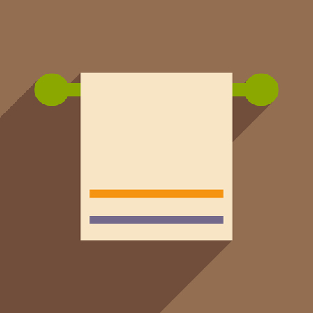 towels: Flat with shadow icon and mobile application towels