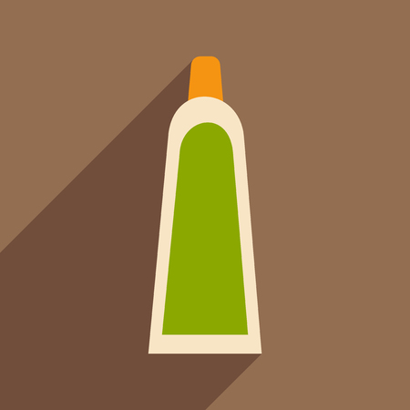 shave: Flat with shadow icon and mobile application Shave Cream Illustration