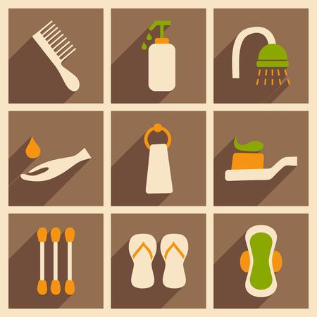aseo personal: Apartamento de concepto sombra y la higiene de aplicaciones móviles