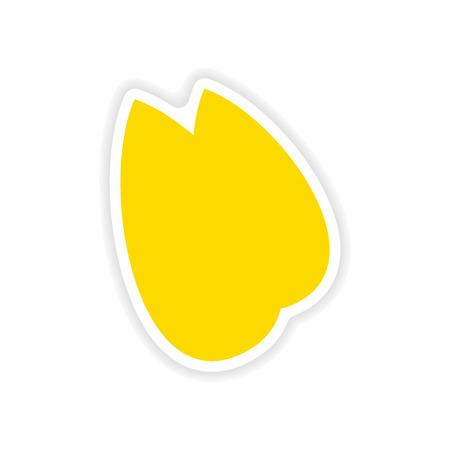 almonds: icon sticker realistic design on paper almonds