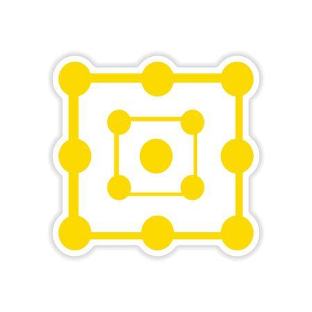 alchemy: icon sticker realistic design on paper alchemy symbols