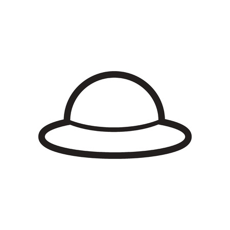 derby hats: stylish black and white icon English hat Illustration
