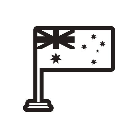 southern: stylish black and white icon flag of Australia