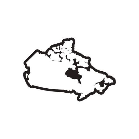 newfoundland: stylish black and white icon map of Canada