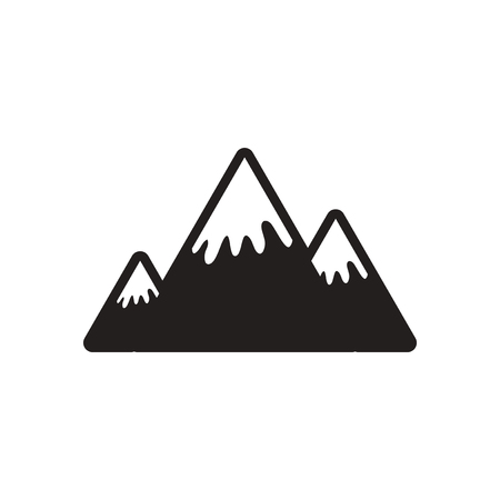 canadian icon: stylish black and white icon Canadian mountain Illustration