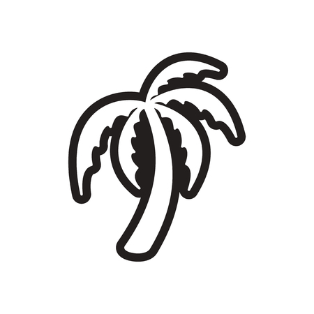 tagged: stylish black and white icon Indian palm