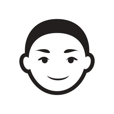 indian boy: stylish black and white icon Indian boy