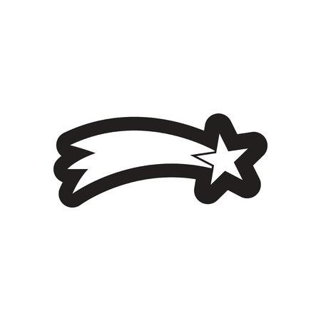 icona appartamento a stella in bianco e nero di Natale