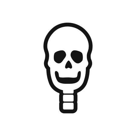 dismay: stylish black and white icon human skull