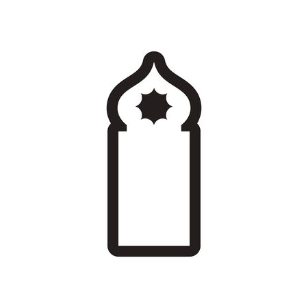 relegion: style black and white icon Arab mosque