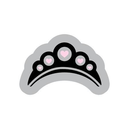 diadem: Flat web icon on white background diadem Illustration