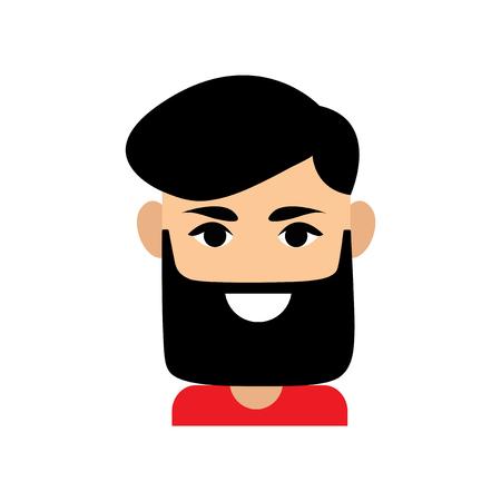 Flat web icon on white background  men's haircut Illustration