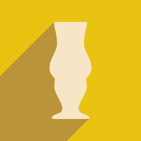 stemware: Flat with shadow icon and mobile applacation stemware Illustration