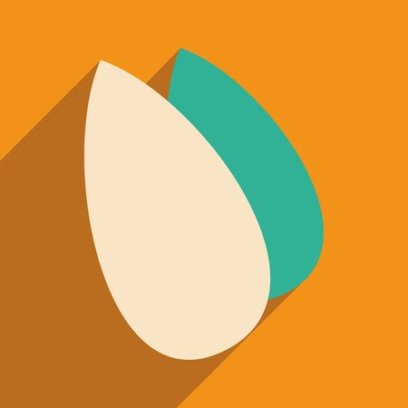 almonds: Flat with shadow icon and mobile application almonds