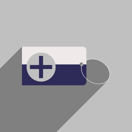 admittance: Flat style icon with long shadow Medical Card Illustration