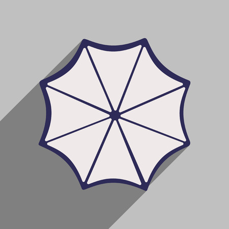 resistant: Flat style icon with long shadow umbrella