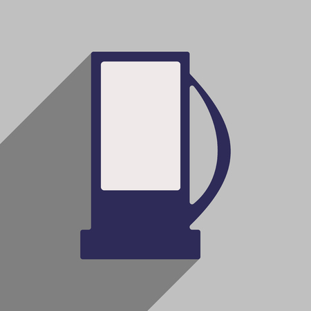 refueling: Flat style icon with long shadow column refueling Illustration