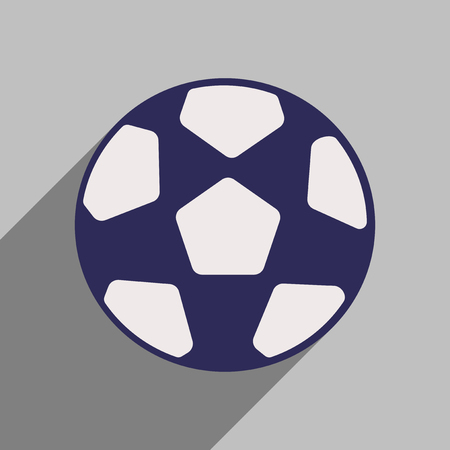 moving activity: Flat style icon with long shadow soccer ball