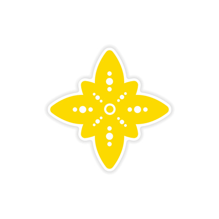 symbol: adesivo di carta segno indiano su sfondo bianco