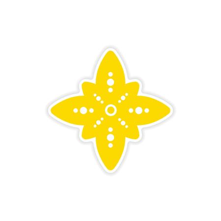 holy  symbol: etiqueta engomada de papel signo indio en el fondo blanco Vectores