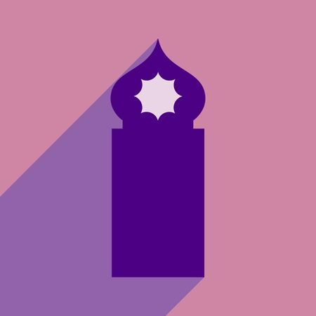 flat icon with long shadow Arab tower
