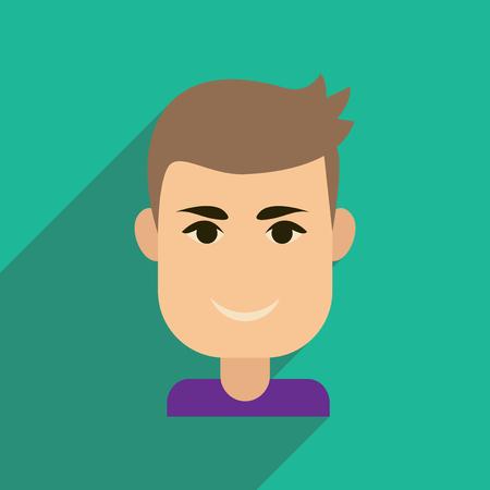 good looking: Flat web icon with long shadow mens haircut