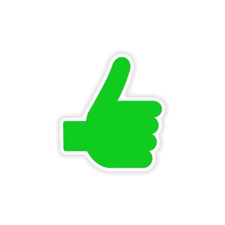 10 fingers: icon sticker realistic design on paper hand finger Illustration