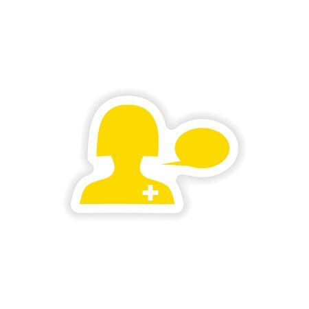 icon sticker realistic design on paper medical Advice