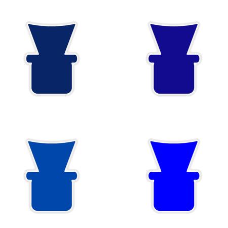 shisha: assembly realistic sticker design on paper shisha bowl