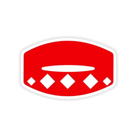 collar: icon sticker realistic design on paper collar