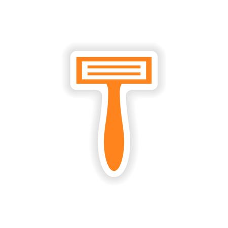 icône autocollant design très réaliste sur papier rasoir