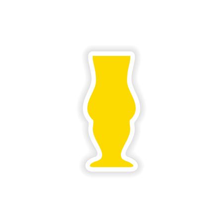 pina: icon sticker realistic design on paper drinks