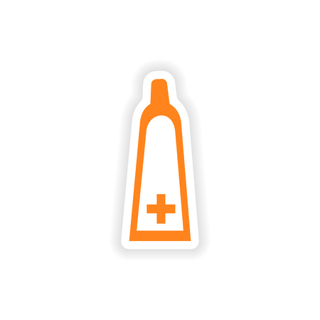 ointment: icon sticker realistic design on paper medical ointment
