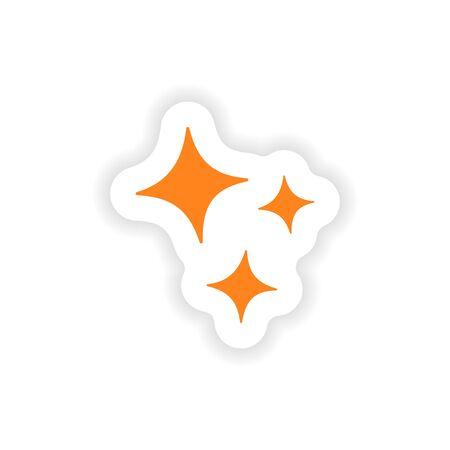 shine: icon sticker realistic design on paper shine