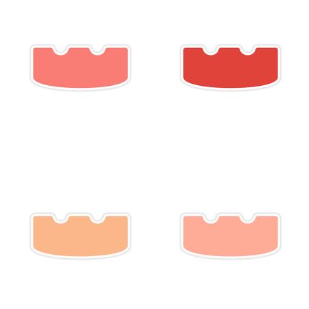 Montage realistisch Aufkleber Design auf Papier Aschenbecher
