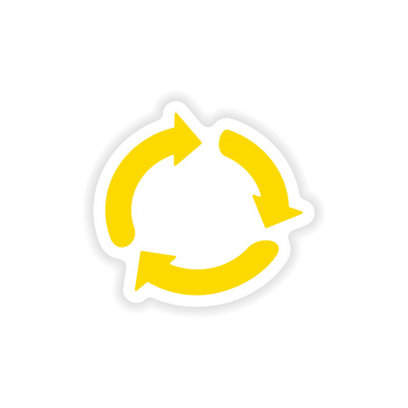 double click: icon sticker realistic design on paper arrows