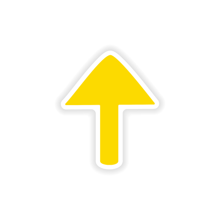 upward movements: icon sticker realistic design on paper arrows