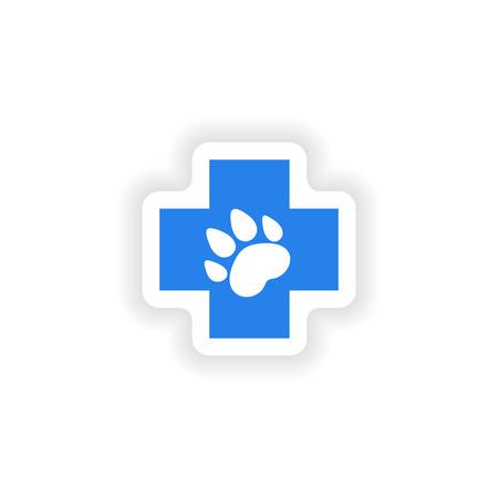 icon sticker realistic design on paper Veterinary Illustration