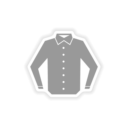 t shirt printing: stylish paper sticker on white background shirt Illustration