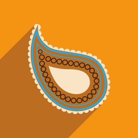 the outmoded: Modern flat icon with long shadow Indian cucumber Illustration