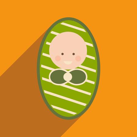 icone plat moderne avec ombre bébé nouveau-né