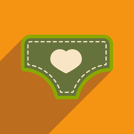 underpants: Modern flat icon with long shadow childs underpants