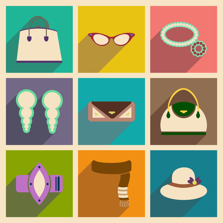 jeweller: Modern flat icons vector collection with shadow fashion